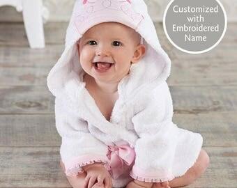 Princess Hooded Bath Robe, Baby Bath Robe, Terry Cloth Robe, Princess Crown Hooded Robe, Baby shower or Christmas gift, Baby Aspen Robe
