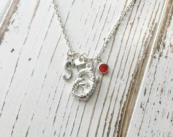 Personalized Pretzel Necklace
