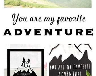 Gift for Valentines, Gift for Valentines Day, Gift for Traveler, Wanderlust Gift, Gift for Hiker, Gift for Engaged Couple