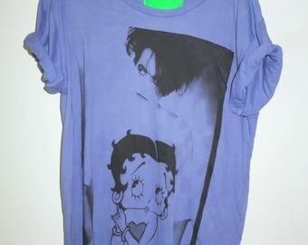 80's Blue Goth T Shirt