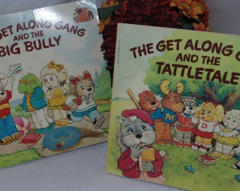 Two Vintage Get along gang Books Paperback 1984 Tattletale Bully Scholastic