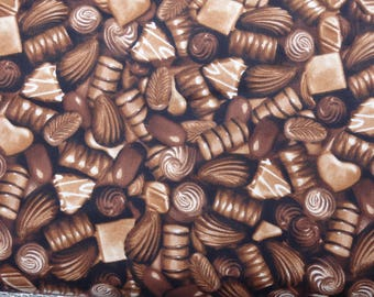 Chocolates Fabric, Woven Cotton, Northcott Fabrics, Chocolate Lover Fabric, Valentines Fabric - By the Half yard
