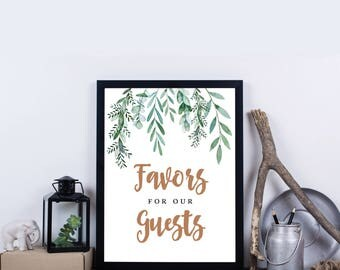 Greenery Favors Please Take One, INSTANT DOWNLOAD, Botanical, Garden Wedding Sign, DIY Sign Wedding Decorations – Delilah