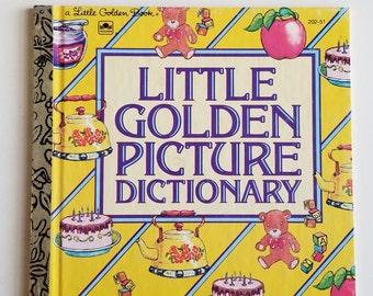 Little Golden Picture Dictionary Vintage Golden Book #202-51 1981
