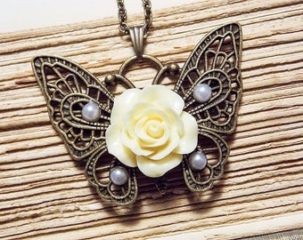 Victorian Butterfly Pendant