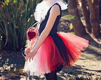 girls queen of hearts tutu halloween girls queen of hearts costumegirls dress up - Halloween Girl Dress Up