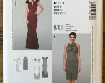 UNCUT Burda 6995 Dress Sewing Pattern Size 6-8-10-12-14-16 Formal Prom, Wedding, Ball Gown, Long Dress, Princess Seams, Fitted