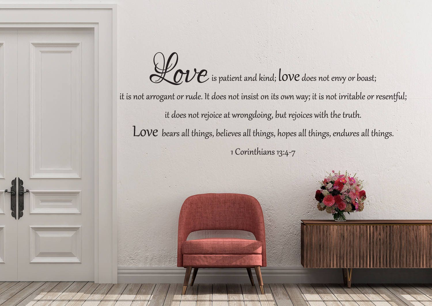 Wall decal of 1 corinthians 134 7 zoom amipublicfo Choice Image