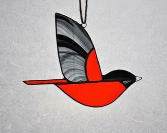 Mod Baltimore Oriole Suncatcher Ornament