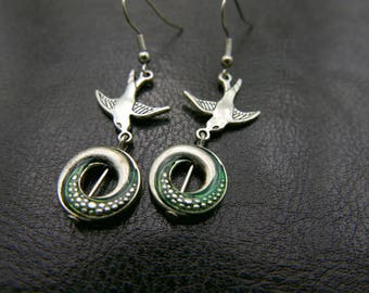Swallow Earrings stainless steel hand painted