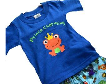 Prince Charming Shirt, Frog T-shirt, Summer Shirt, Boys Shirt, Vinyl Shirts, Custom Shirts, Monogram Shirts