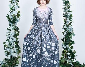 Glass Peony  - maxi dress
