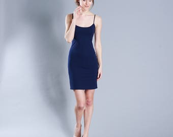 Body con jersey dress dark blue