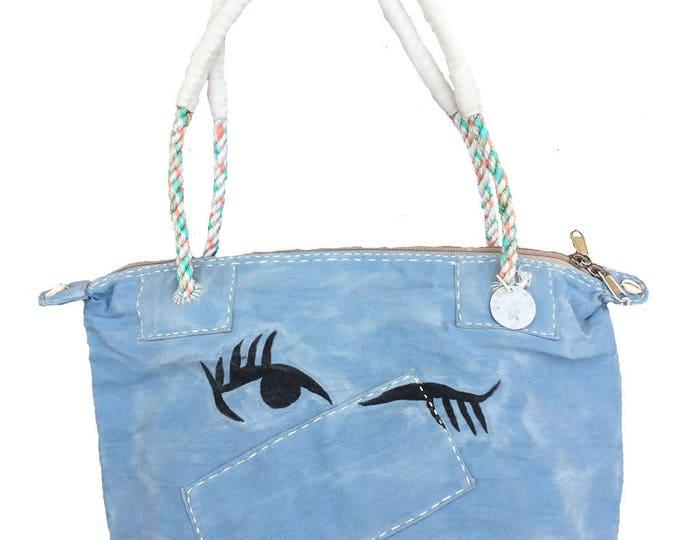 Featured listing image: Ali Lamu Small Weekend Bag Blue Wink
