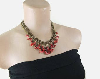 Beadwork Necklace Seed Bead Necklace Beaded Choker Turkish Jewelry Gift For Her Christmas Gift
