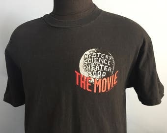 90s Vintage Mystery Science Theater 3000 The Movie 1995 MST3K T-Shirt - LARGE