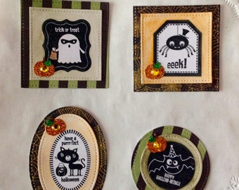 Halloween Cardmaking Toppers Embelishments Scrapbooking Spooky Pumpkins Bats Spiders  Ghosts