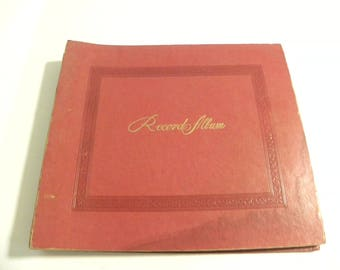 Vintage Decca LP Record Album Storage Book - Looks Like A Photo Album - Holds Up to 8 LPs