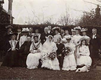 Edwardian wedding, Vintage photograph c1900s