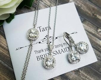 Bridal Jewelry Set, Wedding Jewelry Set, Bridal Jewelry, Bridesmaid Jewelry Set, Bridesmaid Earrings, Bridal Earrings, Bridesmaid Gift