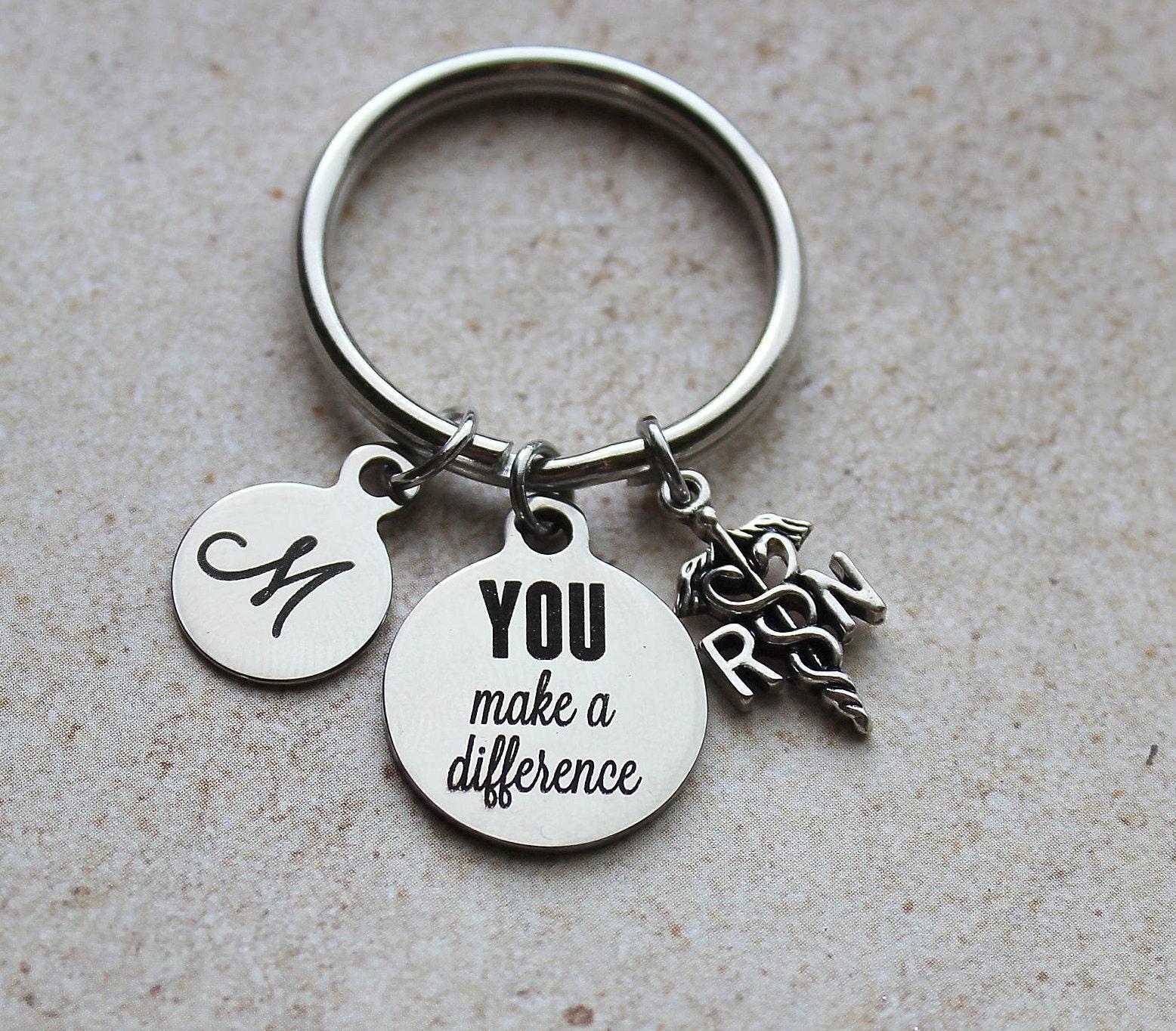 You Make A Difference Registered Nurse Bangle Bracelet Thank You