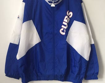 vintage chicago cubs apex one windbreaker jacket mens size XL deadstock NWT 90s