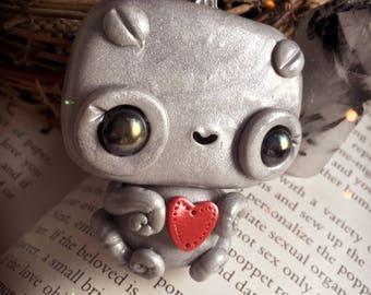 Tiffy the robot littling // cute sculpture robots tiny baby ooak art toy doll kawaii love