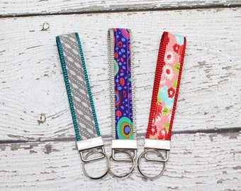 Key Fob, Key Chain, Fabric Wristlet, Fabric Key Chain, gifts under 10, teacher gift, college gift, Womens Key Chain, Womens Accessory