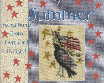 Souvenirs of Summer by Blackbird Designs - OOP Cross Stitch Pattern Book