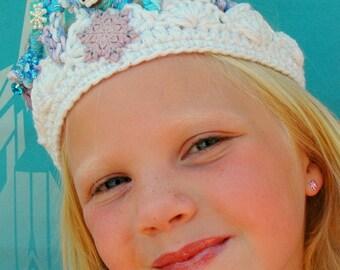 Disney Frozen Olaf, Olaf tiara, Olaf costume, Olaf crown, princess crown, princess tiara, Olaf crochet, Olaf hairpiece