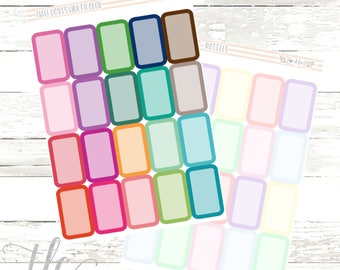 Half Box Functional Planner Stickers