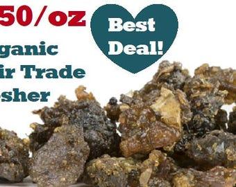 Organic GUGGUL GUM RESIN - 1oz - Commiphora mukul, bulk herbs by the ounce, fair trade, kosher, non-gmo