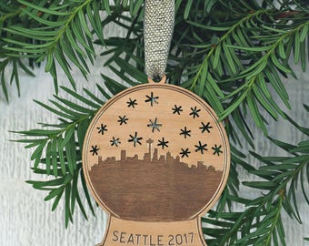 Seattle Snow Globe Ornament