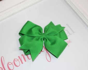 "Emerald Green Large 4"" Pinwheel Bow"