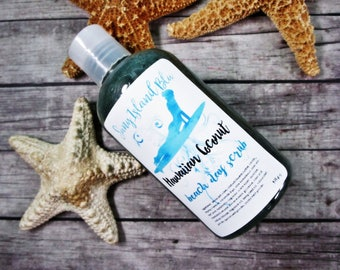 Hawaiian Coconut Exfoliating Body Wash - Shower Gel - Bath Gel - Coconut Body Wash - Liquid Soap