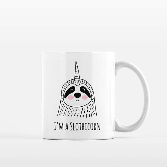 Slothicorn Coffee Mug, Sloth Unicorn, Ceramic Mug, Funny Mug, Cute Mug, Unique Coffee Gift, Coffee Lovers Gift, Office Mug, Coffee Cup