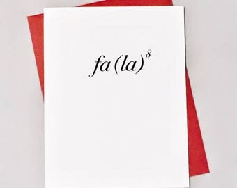 Math Equation Christmas Card / Deck the Halls Holiday Card /Fa La to the Eighth / Fa La La La La / Positively Awesome Math Cards
