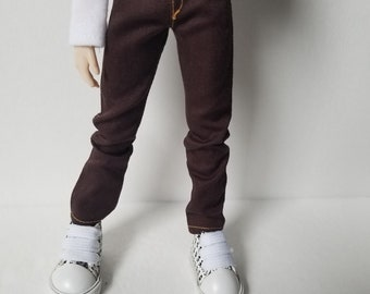 Chocolate brown jeans for Taeyang