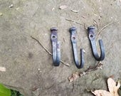 Blacksmith Made Hooks - Made from Antique Barn Nails, mid-1800s. Rustic and useful. Free Shipping in lower 48.