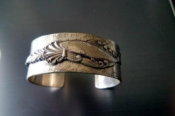 Beautiful Sterling Silver Fish Cuff