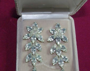 Amazing Long Crystal Earrings from Farrah Fawcett Collection - S2243