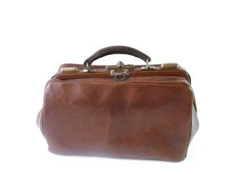 Doctor Bag Vintage Leather Doctor Bag Antique Doctor Bag