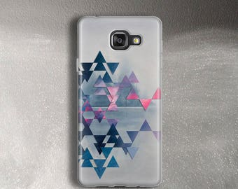 Case for Samsung Galaxy A3 2017 Case neon triangles for A5 2017 Case clear for A7 2017 Case grey pastel for A3 A5 A7 2016