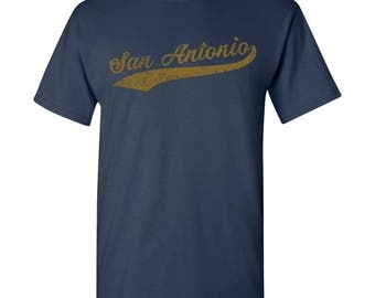 San Antonio City Script T-Shirt - Navy