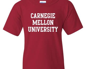 Carnegie Mellon Scotties Basic Block YOUTH T-Shirt - Cardinal