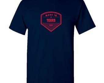 Made in Texas T Shirt - Navy