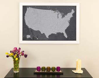 Stormy Dreams Usa Push Pin Travel Map With Pins And Frame 24x36 Map Of