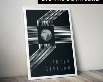 INTERSTELLAR (Printable Movie Poster, Interstellar Poster, Interstellar Wall Art, Minimalist Movie Poster, Art, Graphic Poster)