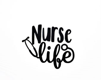 Nurse Life Decal - Nursing Decal - FREE Shipping!