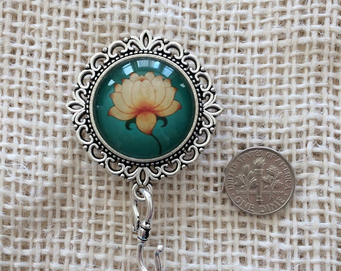 Knitting Pin - Magnetic Knitting Pin for Portuguese Knitting - Lotus Flower